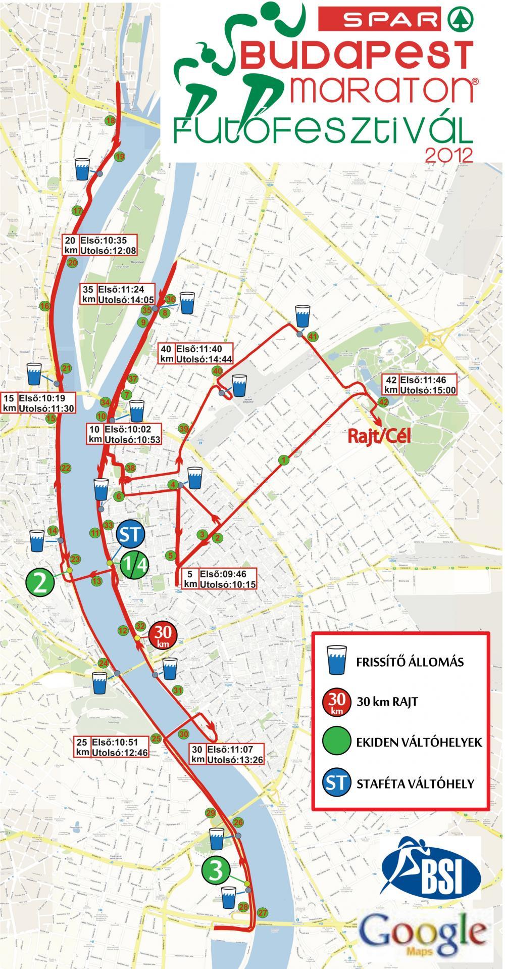 budapest térkép távolság 27. Spar Budapest Maraton   térkép   Futanet.hu budapest térkép távolság