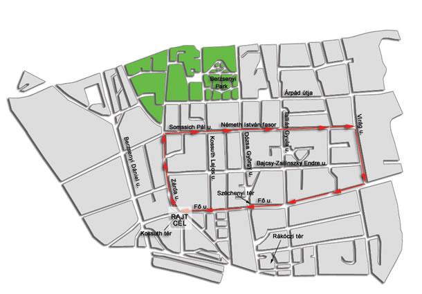 kaposvár térkép 4. T Home Vivicittá Városvédő Futás, Kaposvár   Térkép   Futanet.hu kaposvár térkép