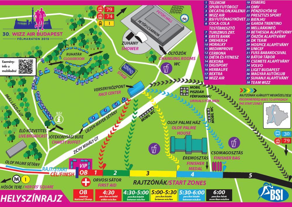 wizzair térkép 30. Wizz Air Budapest Félmaraton Térkép   Futanet.hu wizzair térkép