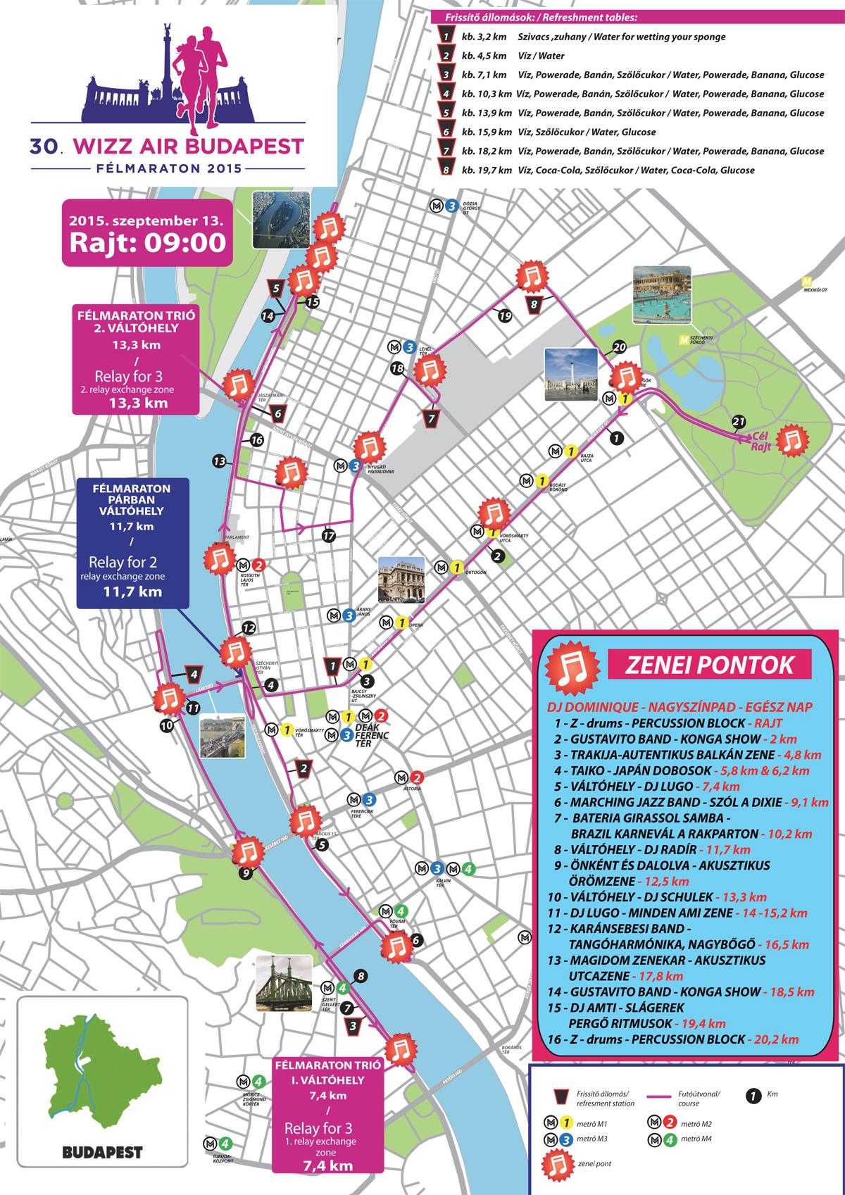 wizz air térkép 30. Wizz Air Budapest Félmaraton Térkép   Futanet.hu