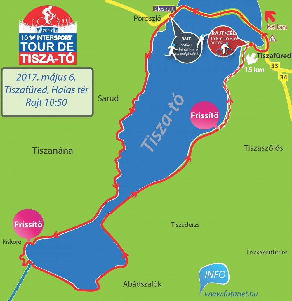 tisza tó térkép 10. Intersport Tour de Tisza tó térkép   Futanet.hu tisza tó térkép