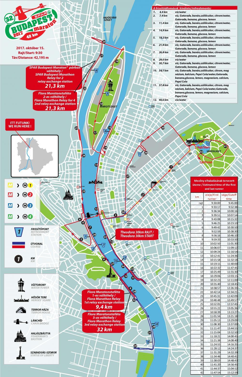 32 Spar Budapest Maraton Terkep Futanet Hu