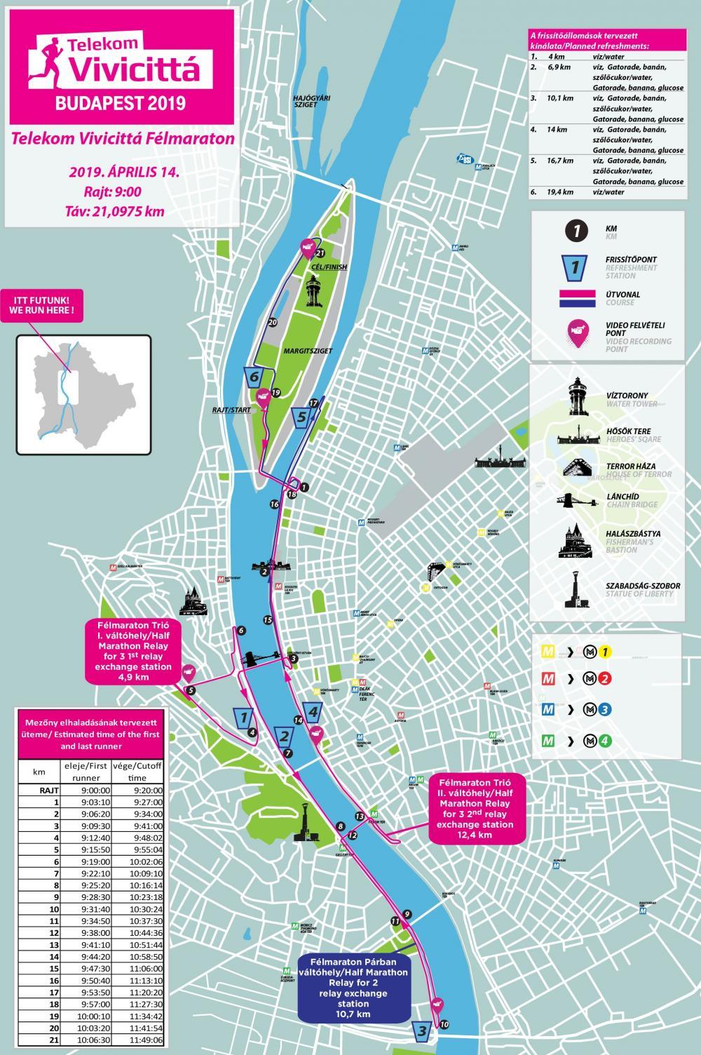 Telekom Vivicitta Felmaraton Terkep Futanet Hu