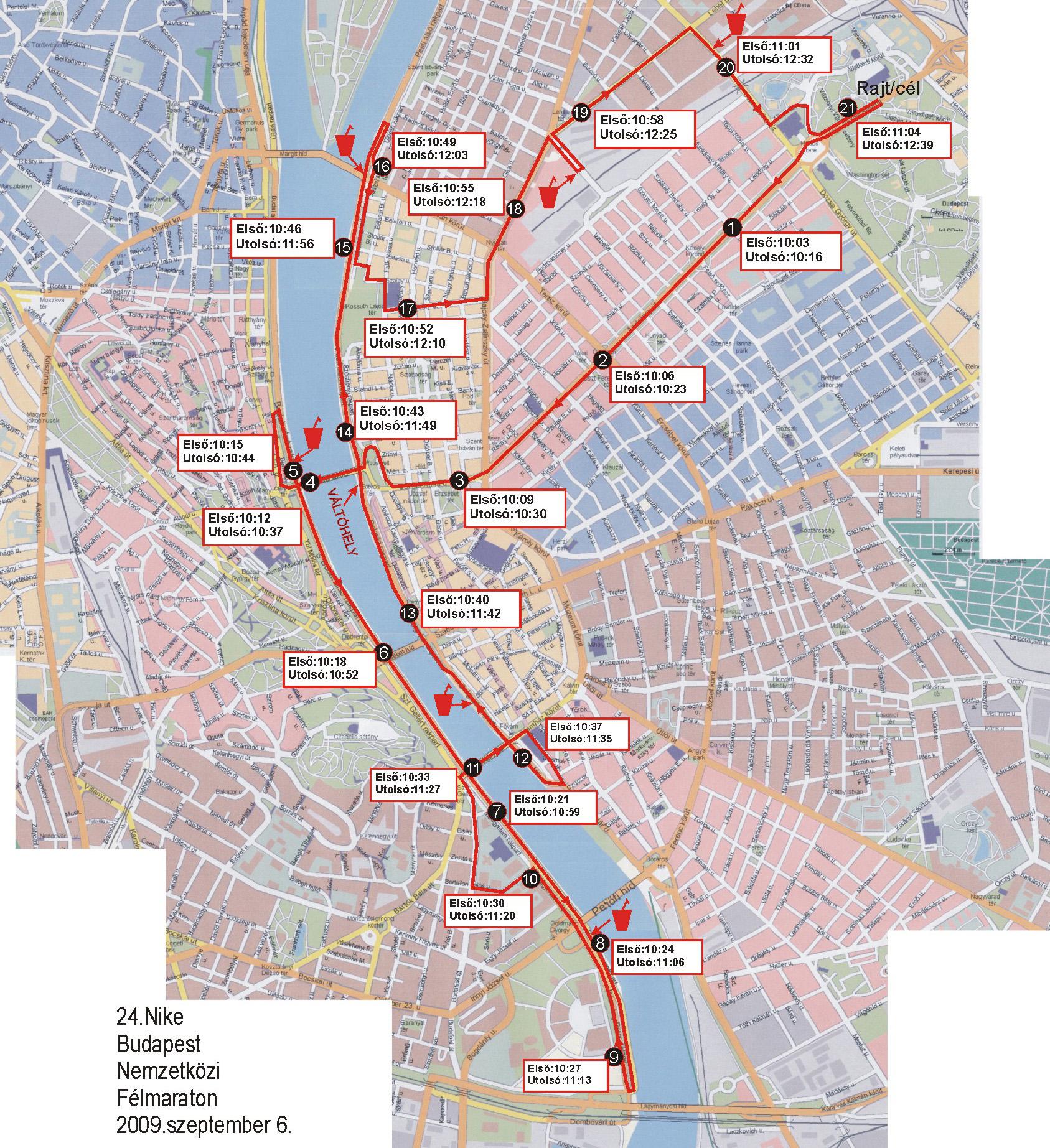 budapest térkép nyomtatható 24. Budapest Nemzetközi Félmaraton, Térkép   Futanet.hu budapest térkép nyomtatható