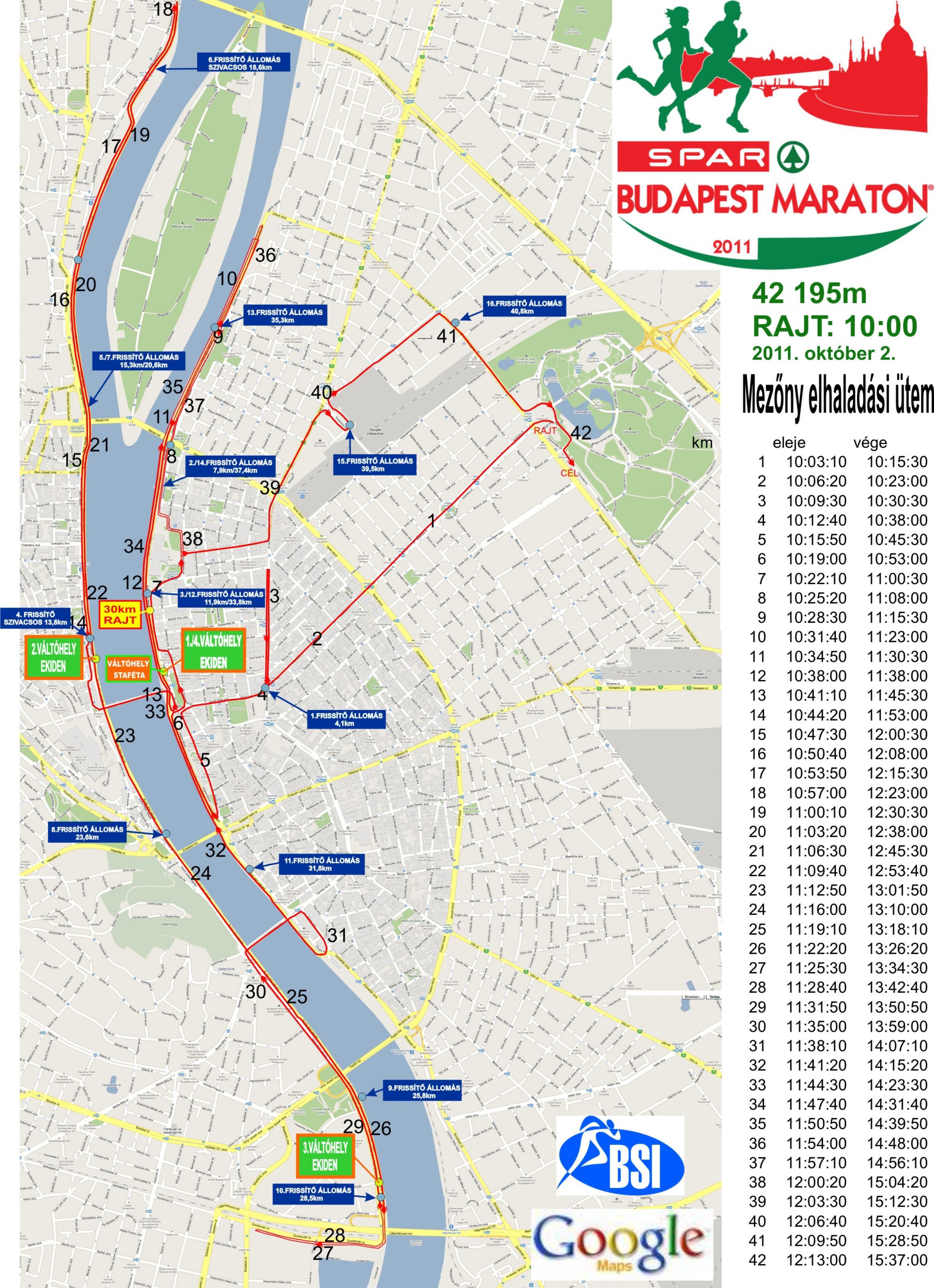 budapest útvonal térkép 27. Spar Budapest Maraton 30 km   térkép   Futanet.hu budapest útvonal térkép